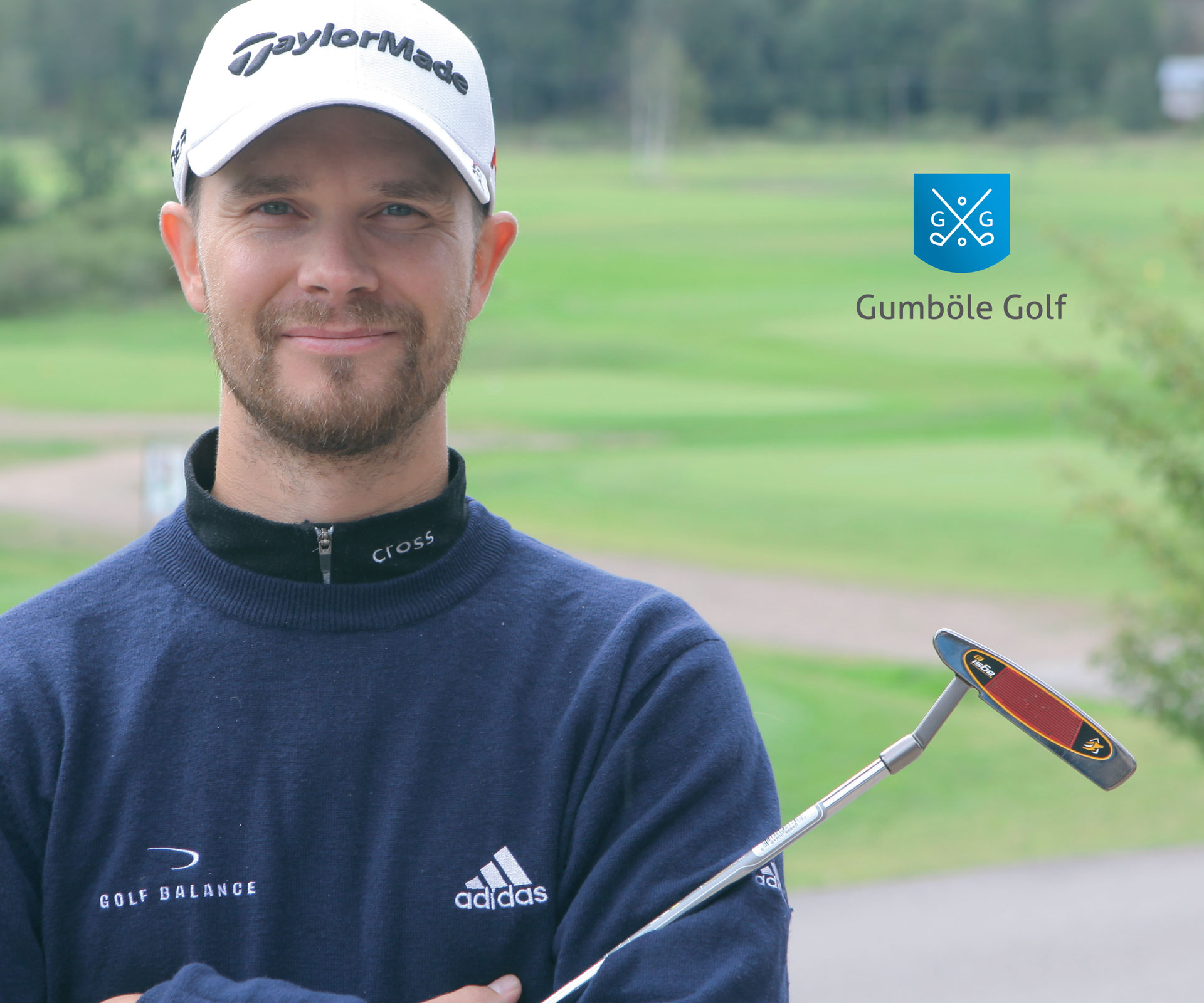 Gumböle Golf esitteen suunnittelu, valokuvaus.