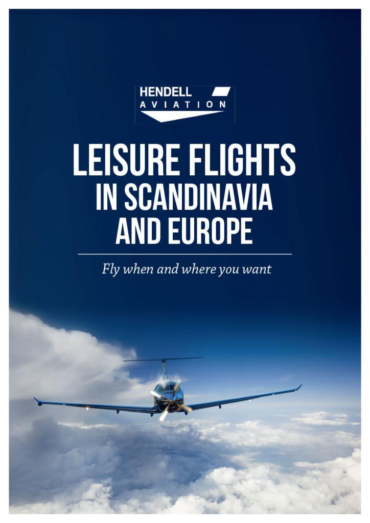 Hendell Aviation mainos. Graafinen suunnittelu.