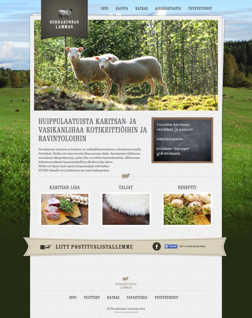 Herrakunnan lammas kotisivut ja verkkokauppa