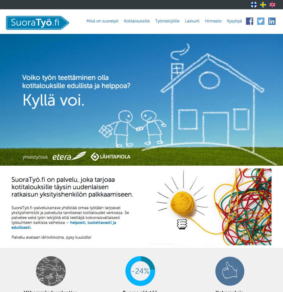 Suoratyo.fi kotisivut