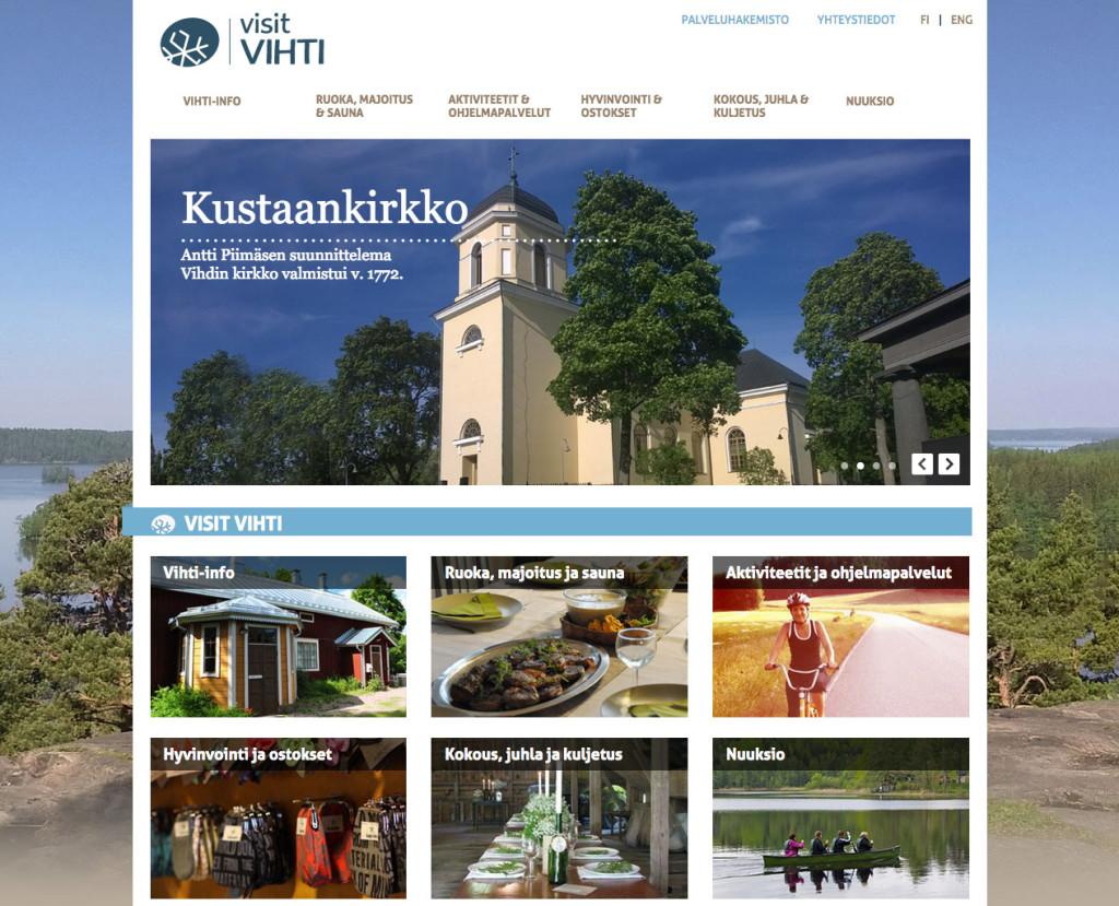 visitvihti.fi kotisivut